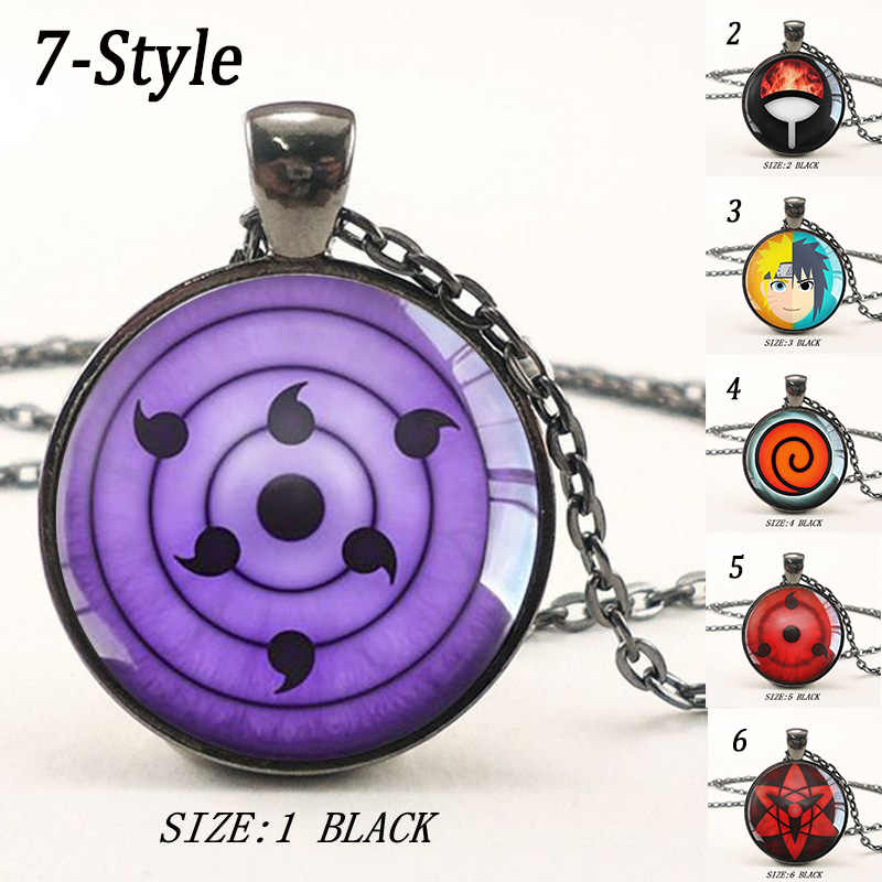 2018 new fashion Bohemian style long chain necklace Rinnegan Eyes Naruto Pendant  Glass Dome Necklace Anime add60869b08d
