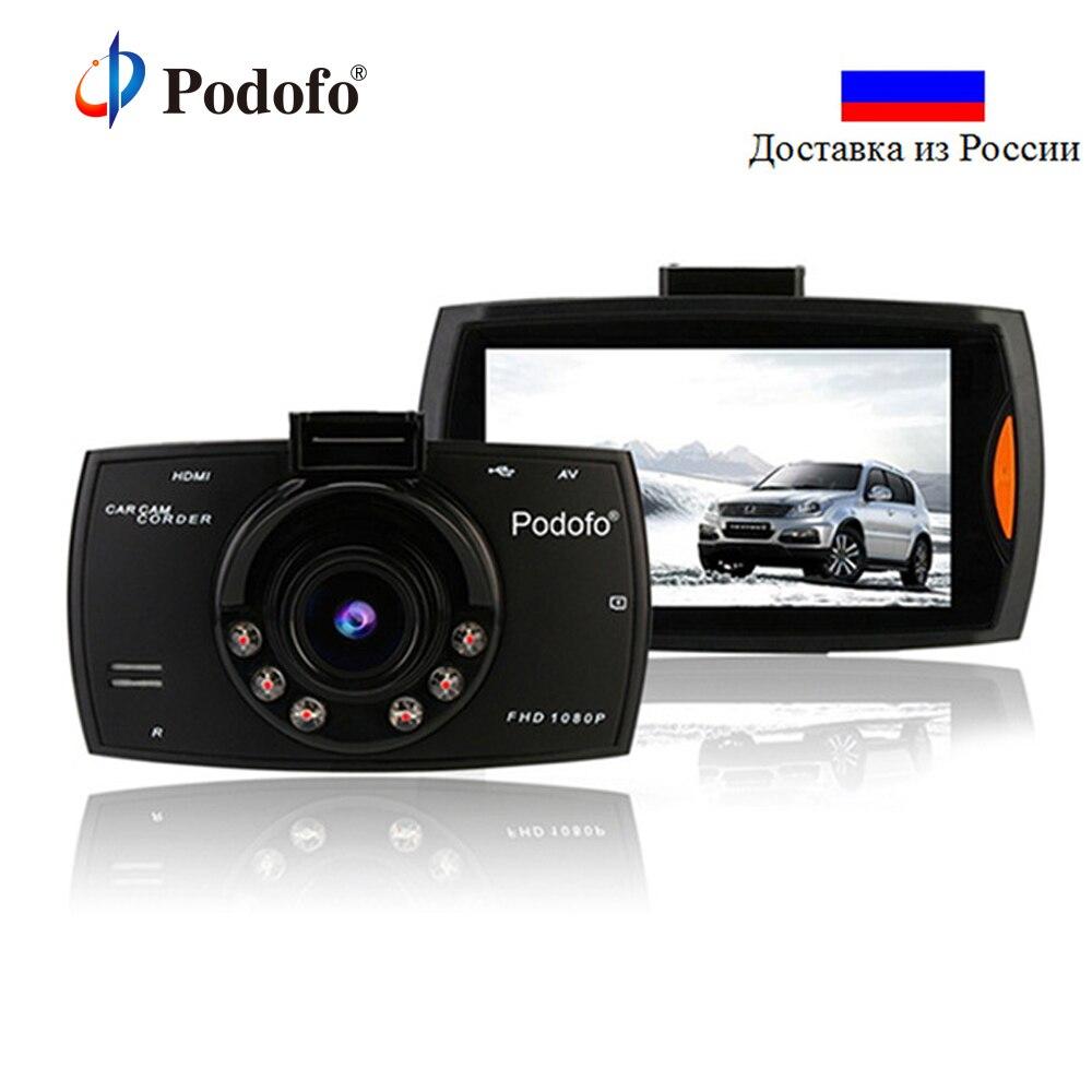 Podofo Cámara del coche DVR G30 DVR registro Dashcam Full Hd 1080 p Video Recorder para coches visión nocturna videocámara g-sensor Dash Cam