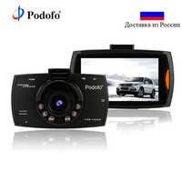 Podofo Car DVR Camera G30 Dvrs Registrars Dashcam Full Hd 1080P Video Recorder for Cars Night Vision Camcorder G-Sensor Dash Cam