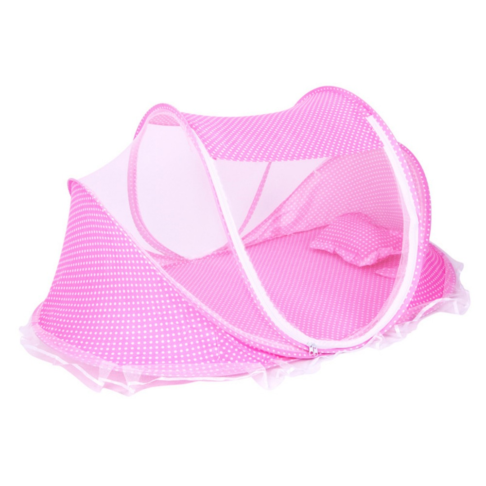 Bedding Mosquito Net Foldable Baby Crib Netting Pillow Mat Setat Set New Portable Soft 0-3 Years Bed Cotton Sleep Travel Cots