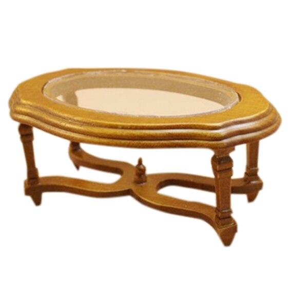 Новый Весы 1:12 Кукольный Миниатюрный Кофе столик чайный стол Декор в гостиную аксессуар коричневый