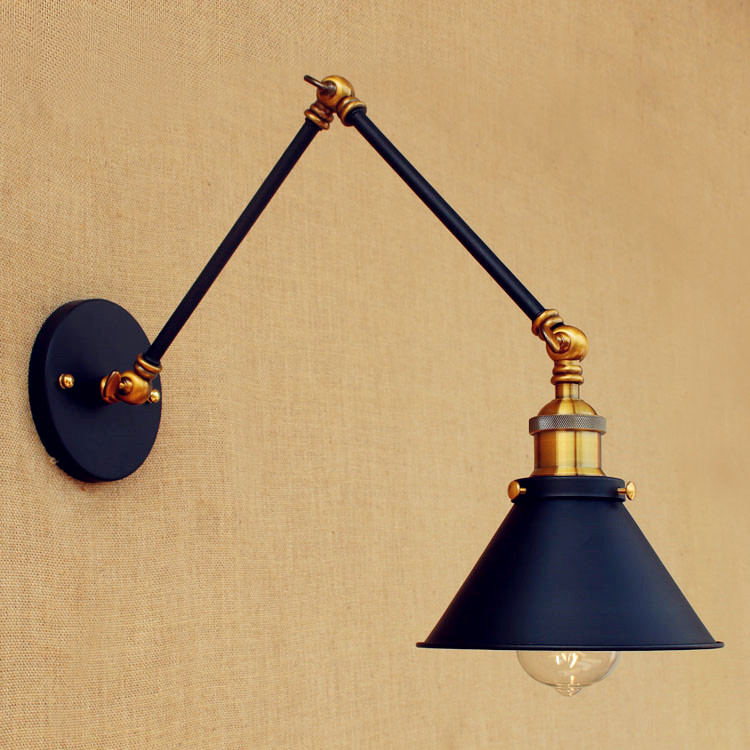 Sconce Swing Long Arm Wall Light Fixtures LED Retro Loft