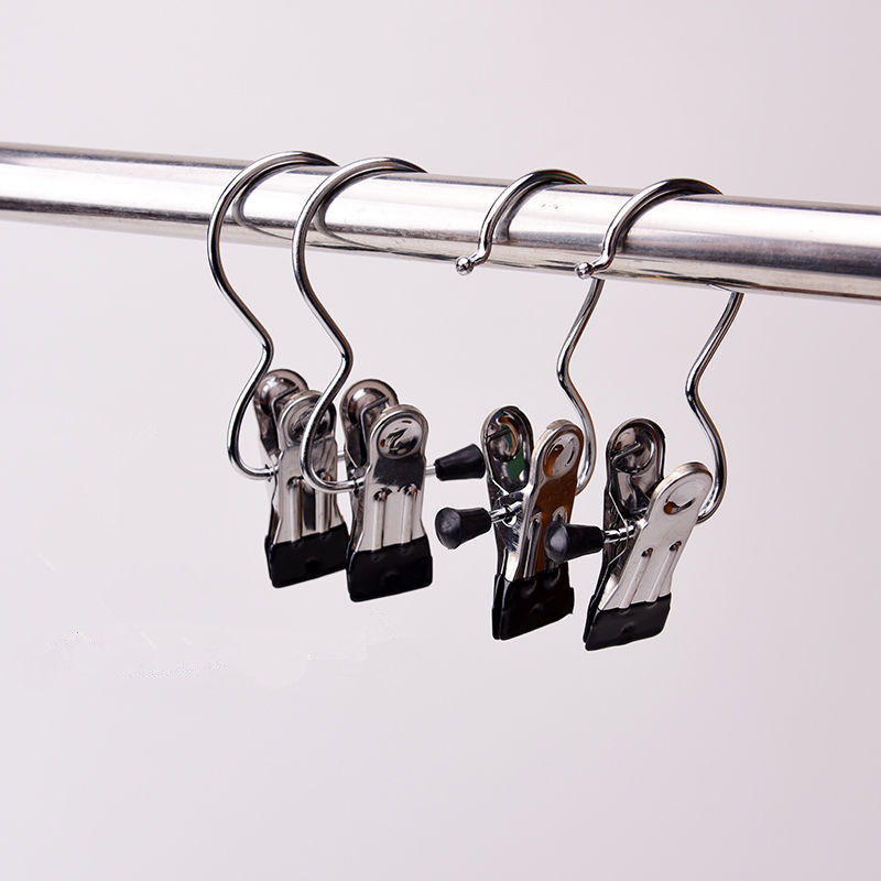 Hanger Clip S-Type Curtain Hook Pant Shoes Socks Clip Hanging Clothes Pins Closet Organizer for Travel Home 10 PCS