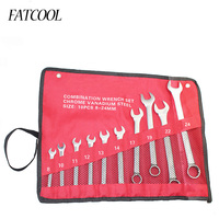 FATCOOL 10 pcs 8mm 24mm Combination Spanner Set Professional Ratchet Wrench Tool for Installation / Maintenance
