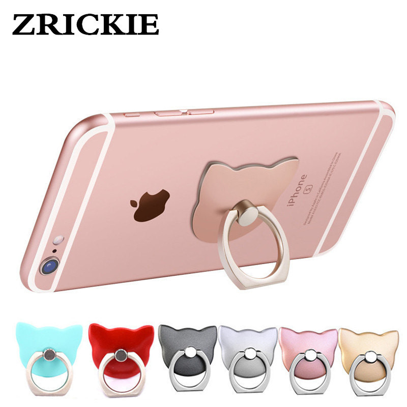 ZRICKIE Cat Finger Ring Holder Cute PC Pop Phone Holder Socket for iPhone/Sumsung/Huawei/Xiaomi 360 Rotate Finger Ring Stand