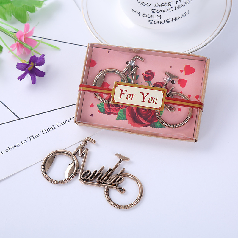 Homemade Wedding Gifts For Guests: 12PC DIY Love Forever Bike Bicycle Bottle Opener Wedding