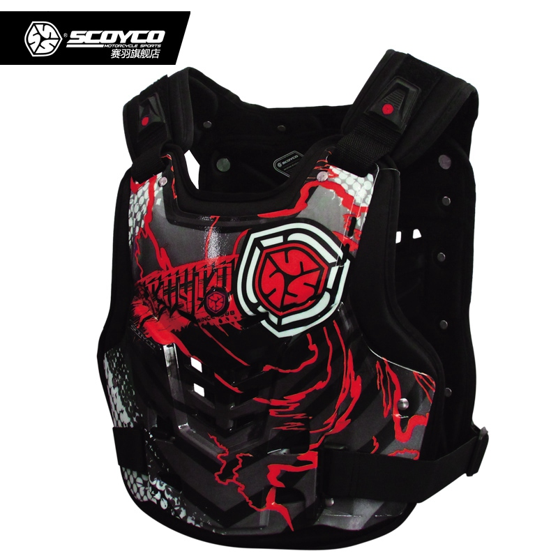 Motorcycle Armor Motocross Off Road Body Armor With Shockproof Lining Racing Protective Gear Chest&Back Protector Scoyco AM06 scoyco am05 racing motorcycle body armor protector black size l