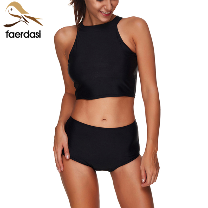 solid black sport bra swim trunk 2 piece swimsuit 2018. Black Bedroom Furniture Sets. Home Design Ideas