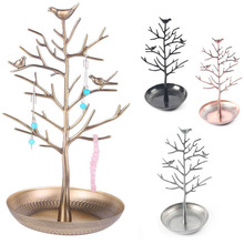 Jewelry Stand Bird Tree Holder Rack Earring Necklace Display Multifunctional