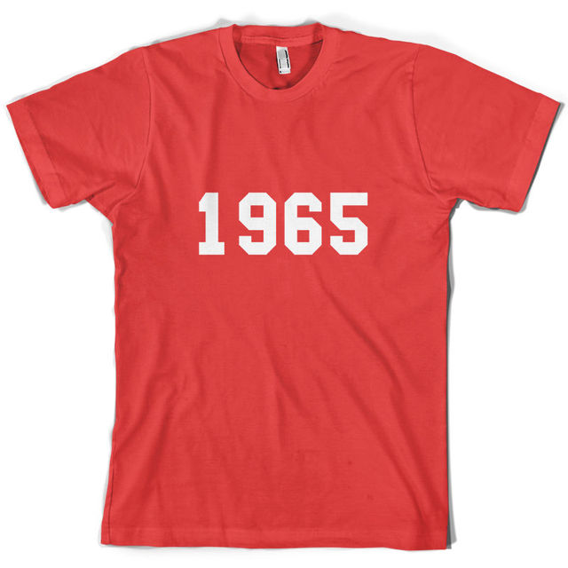 1965 College Style Mens 50th Birthday Present Gift T Shirt 10