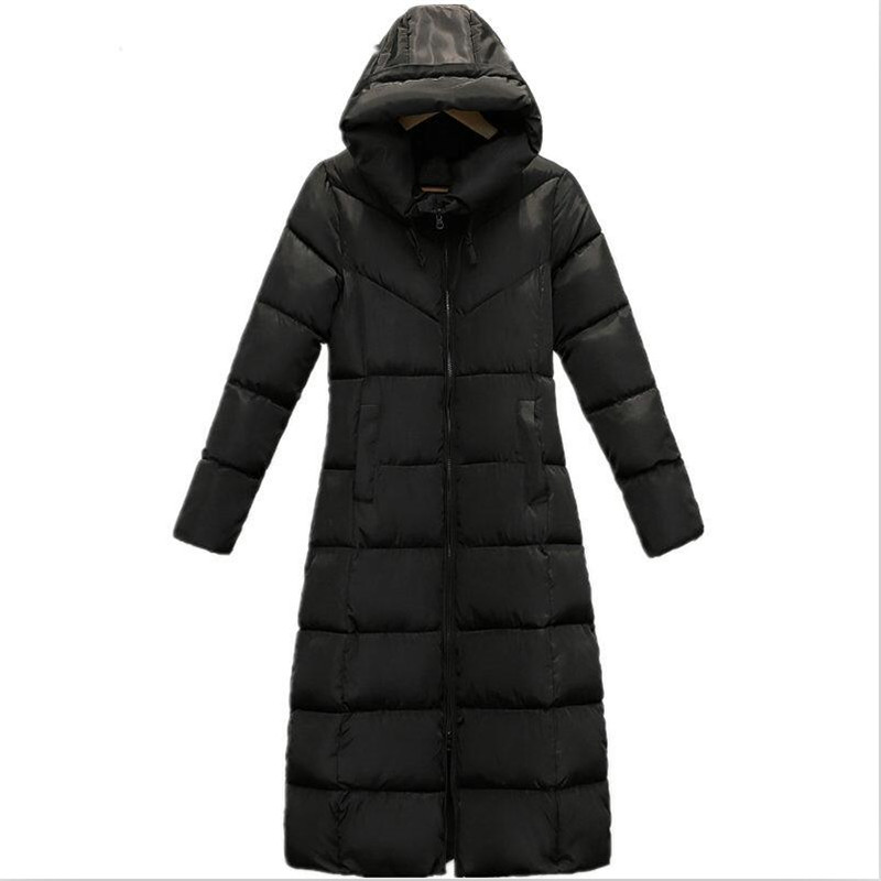 Korean Style 2019   Parkas   Female Winter Cotton Padded Long Coat Thickening Warm Solid All-Match Jacket Outwear Plus Size Coat 3XL