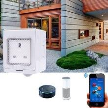Wi-Fi умная розетка Водонепроницаемый ip55 Беспроводной открытый Smart Мощность гнездо работает с ewelink приложение Alexa эхо Google