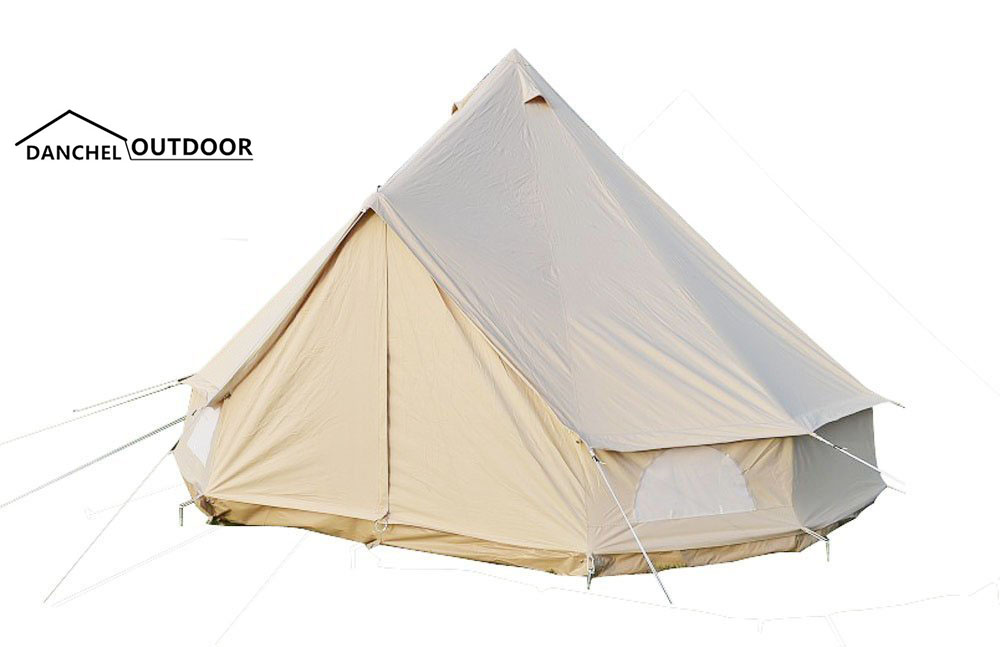 DANCHEL  3 Meter Canvas Bell Tent Outdoor All Season Sun Shade Travel Camping Tipi Waterproof Family Camping 3M 10 Feet Diameter пена монтажная mastertex all season 750 pro всесезонная