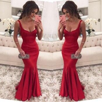 Trust LinDa Glamorous Spaghetti Straps Mermaid Bridesmaid Dresses Sexy Side Split Party Wear Dress Custom Made Prom Gowns 2018