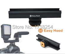 "Easy Hood  Adjusttable 4"" Rail  10cm Flash Bracket Hot  Cold Shoe Extension for for Video Lights, Microphones or Monitors"