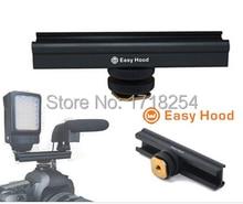 """Easy hood adjusttable 4 """"rail 10 cm flash bracket hot koude schoen extension voor voor video lichten, microfoons of Monitoren"""