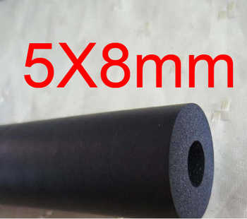 5mm ID 8mm OD NBR tube,Nitrile butadiene rubber tubing, resistance to Diesel, petrol, lubricating oil resistant flexible pipe