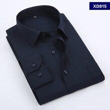 Plus Size 5XL 6XL 7XL 8XL Pure Color Business Easy-care Fomal Dress Long Sleeve Shirt Men Soft Comfortable 110kg 120kg 130kg