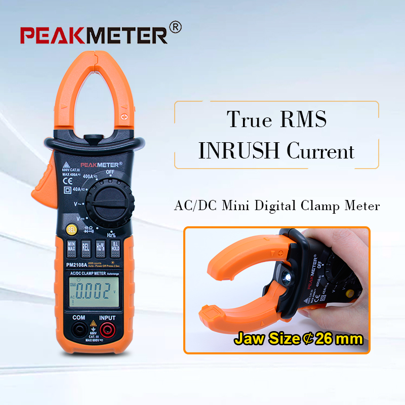 PEAKMETER PM2108APM2108 Digital clamp meter ac dc Mini multimeter true rms with auto power off function