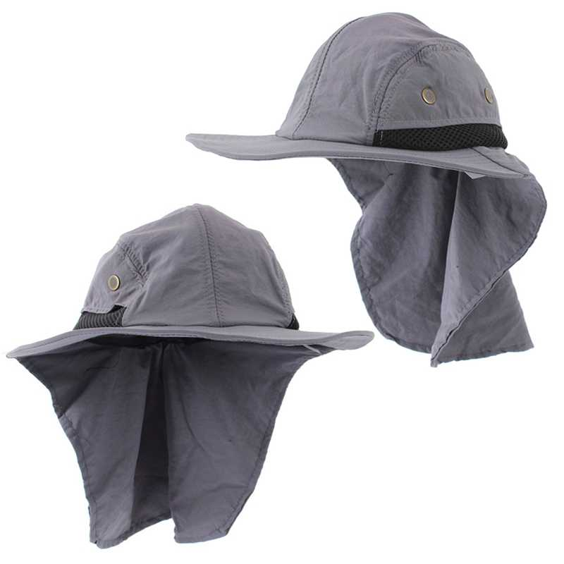 f5476f57 ... Men Summer Sunscreen Hats UPF 50+ Hat Outdoor Sun Shading Anti  Ultraviolet Ray Beach Hat ...