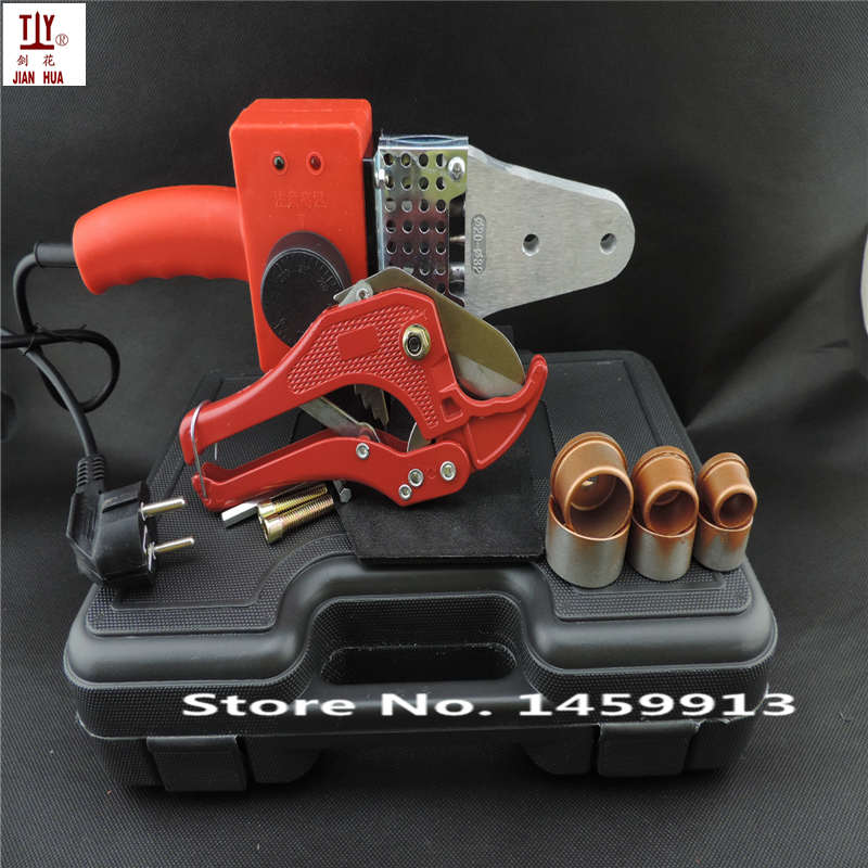 Welding machine for plastic pipes 20-32mm AC220/110V 600W Plumbing tools with 42mm pipe cutter free shipping 6 types assorted welding staples welding nails welding screws for plastic welding repairs packed by plastic box st 600