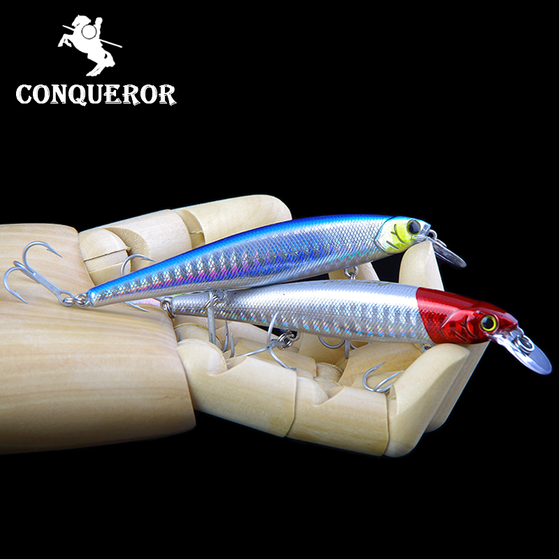 Conqueror hot model fishing lures hard bait different colors for choose 100mm 11g minnow,quality professional minnow