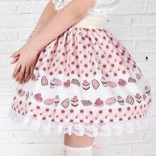 Adomoe/Новинка; юбки с принтом орхидеи; милые кружевные юбки размера плюс в стиле Лолиты; юбка принцессы Kawaii в английском стиле; Kawaii; кружевная юбка SK