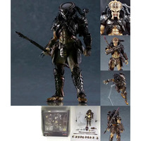 16cm Figma Aliens Vs Predator Requiem Bamboo Valley Long's Model Hands And Feet Can Move Collection Figures Toys
