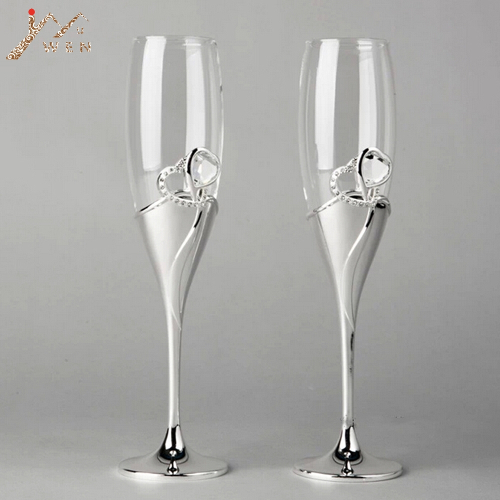 New Arrival European Style Silver Plated Metal Champagne