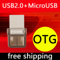 New Mini Pen Drive OTG Usb Flash Drive 64GB 128GB Pendrive 32GB 16GB Micro Usb Otg Flash Drive 8GB 512GB Memory Stick Key Gift