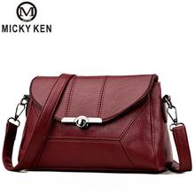 Купить с кэшбэком Micky Ken Brands fashion Shoulder Messenger bag Korean female bag stitching new spring and summer 2018 women handbags