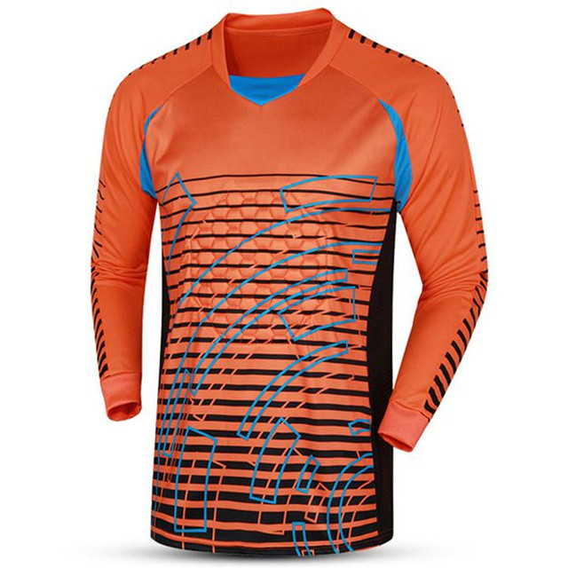 2018 New Men Soccer Jerseys Sports Rugby Goalkeeper Jersey Survetement Football  Goal keeper Uniforms Quick Dry 824edb7fe