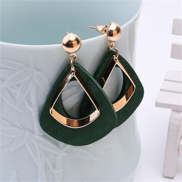 2018 Retro women's fashion statement earring earrings for wedding party Christmas gift wholesale 2