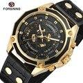 Мужские часы FORSINING FSG8164M3  автоматические Аналоговые скелетоны с ремешком из натуральной кожи