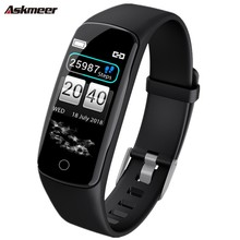 ASKMEER V8 Smart Wristband Heart Rate Tracker Bracelet IP67 Waterproof Watch Men Band For IOS Android Phone