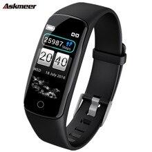 ASKMEER V8 Smart Wristband Heart Rate Tracker Smart Bracelet IP67 Waterproof Smart Watch Men Smart Band For IOS Android Phone цена