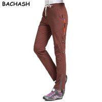 BACHASH 2018 Top Fashion Women Side Stripes Caro Pants Women Black Casual High Waist Pants Plus Size Quick Drying Thin Pantal