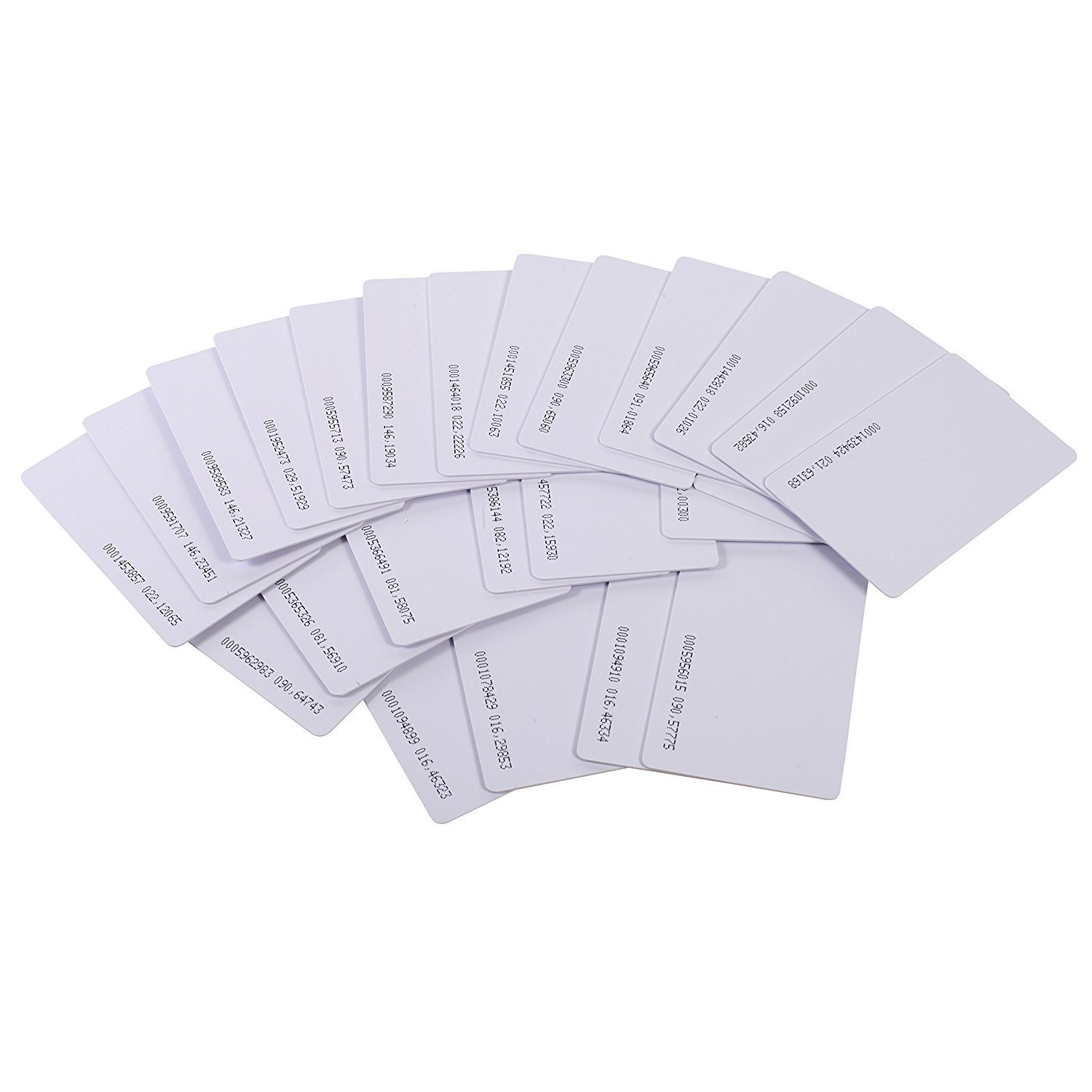 125khz em4100 door entry access blank white proximity rfid clamshell thick card thickness 1 9mm pack of 10 OBO HANDS Proximity 125KHz EM4100 RFID Proximity Smart Entry Access Employee ID Entry Card Thickness 0.8mm (Pack of 20)