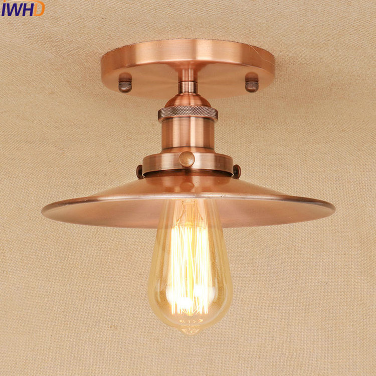 Iwhd E27 Edison Loft Style Iron Vintage Ceiling Light