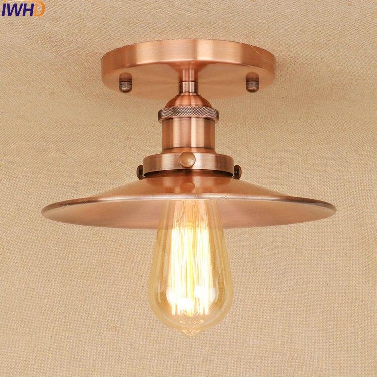 IWHD E27 Edison Loft Style Fer Vintage Plafond Luminaires Industrielle Antique Lampe De Plafond Éclairage À La Maison Lustres De Sala