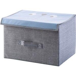 Image 2 - Compartimiento de armario de dibujos animados para el hogar, cajas de juguetes para el hogar, caja plegable de tela, compartimento de almacenamiento para tienda de ropa