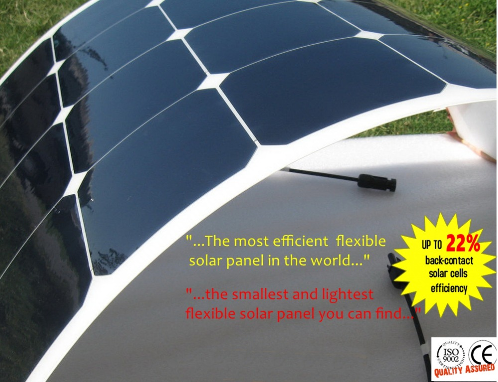 Sunpower Flexible Solar Panel 100W 200W 300W 400W Solar Charger For Motorhomes Boats Roof 12V Battery