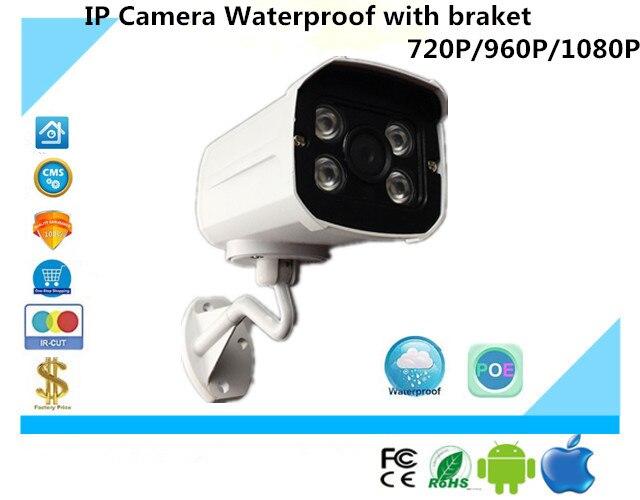 bilder für Luckertech Ip-kamera Wasserdicht mit braket 720 P/960 P/1080 P ONVIF Audio PoE Infrarot IRC NightVision Cctv