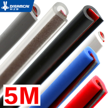 "5 M ""U"" Type autodeur rubberen afdichting Geluidsisolatie afdichtstrip afdichting geluidsisolatie auto auto rubber seal Strips"