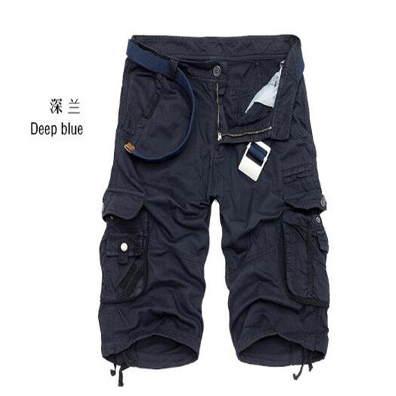 Для мужчин s военных грузов шорты 2018 Фирменная Новинка армия камуфляж тактический шорты Для мужчин хлопка свободный работы Повседневное Ко