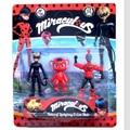 50sets/lot New Arrival Miraculous Ladybug Action Figure Toys Adrien Noir Agreste Cat Plastic Doll Christmas Gift
