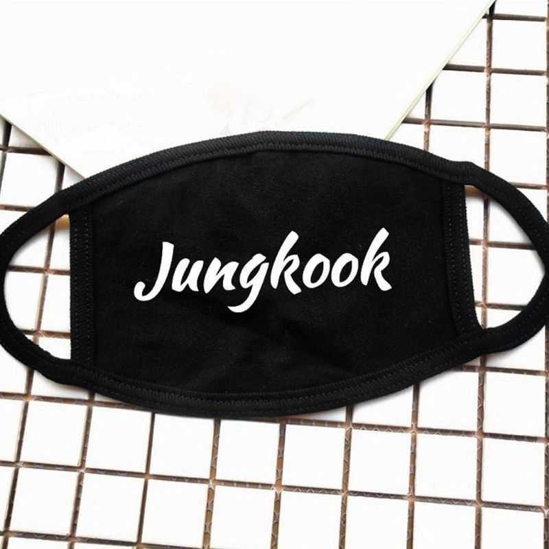 Men's Accessories 1pc Unisex Cotton Half Face Mouth Mask Three Layer Kpop Bts Blackpink Exo Fans Supportive Letters Printed Muffle Respirator Hip Volume Large Apparel Accessories