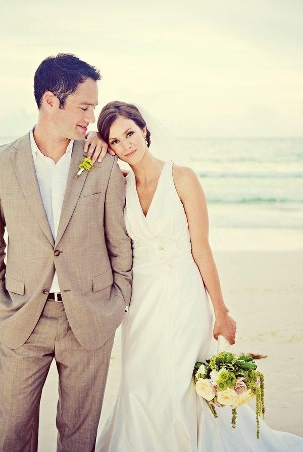 Latest Coat Pant Designs Champagne Linen Men\'s Wedding Suit Casual ...