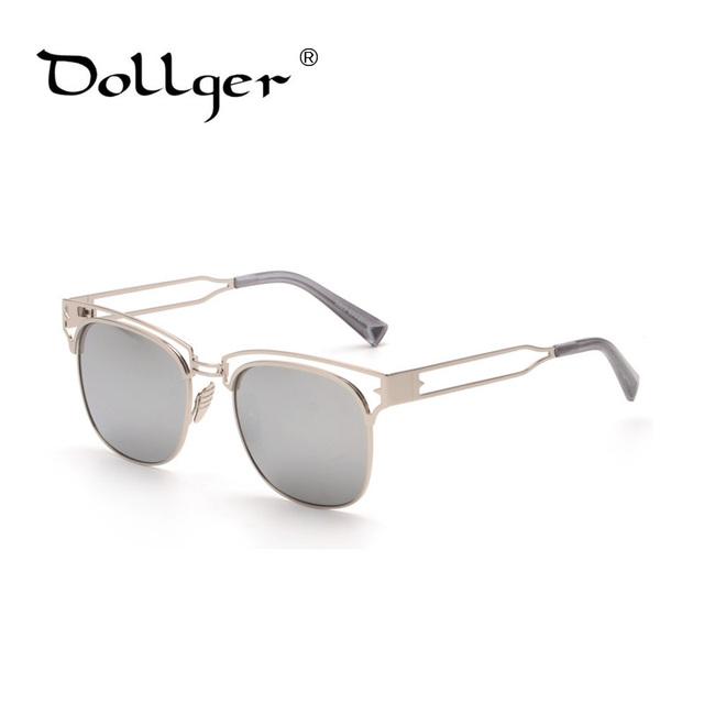 Dollger Quadrados de Liga de metal DO VINTAGE óculos de sol HOMENS espelho óculos mulheres lentes oculos de sol feminino óculos de sol da moda MASCULINA s0789