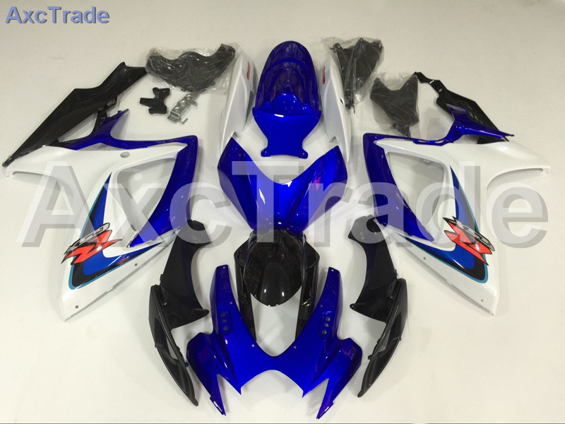 Motorcycle Fairings For Suzuki GSXR GSX-R 600 750 GSXR600 GSXR750 2006 2007 K6 ABS Plastic Injection Fairing Bodywork Kit Blue injection mold fairing 2006 2007 for suzuki gsx r 600 750 k6 k7 plastic bike bodywork red frame free brand logo decal
